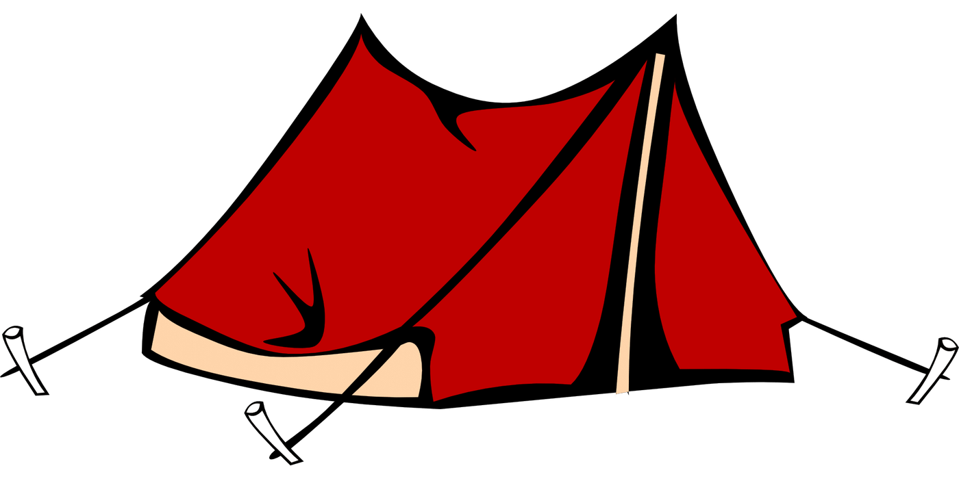 graphic transparent stock Tent clipart. Red camping transparent png.