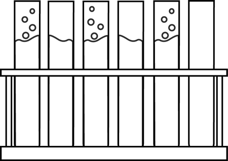 svg transparent library Test clipart black and white. Tubes in a holder