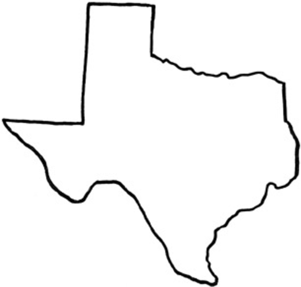 svg black and white Free state of outline. Texas clipart