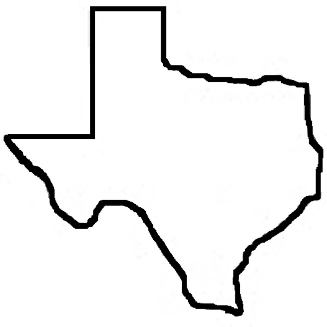 image royalty free stock Texas shape clipart. Free state of outline