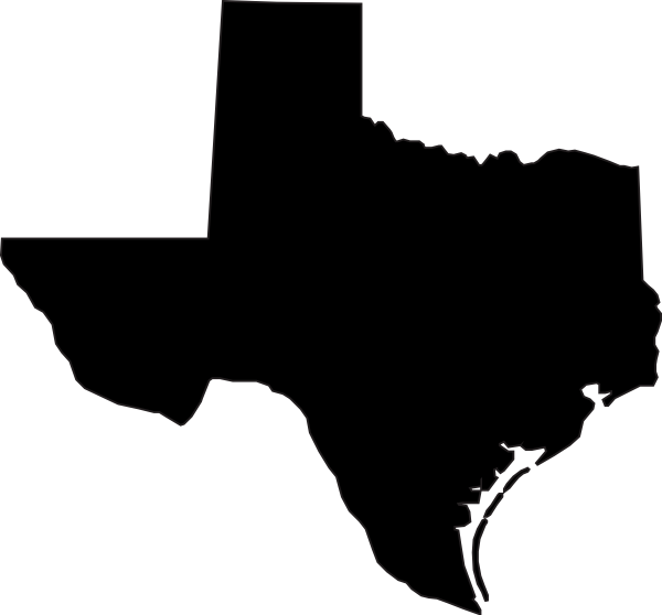 clip black and white library Black Texas Clip Art at Clker