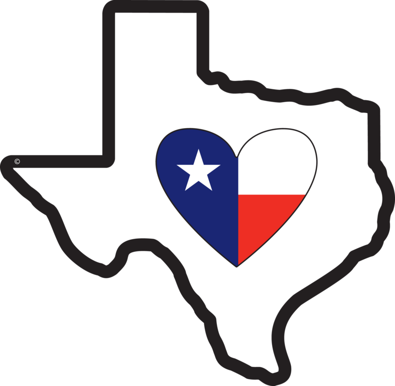 clip black and white library Texas heart clipart. State of
