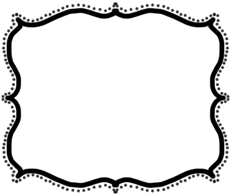 clip art black and white library Borders clipart free. Text boxes download best.