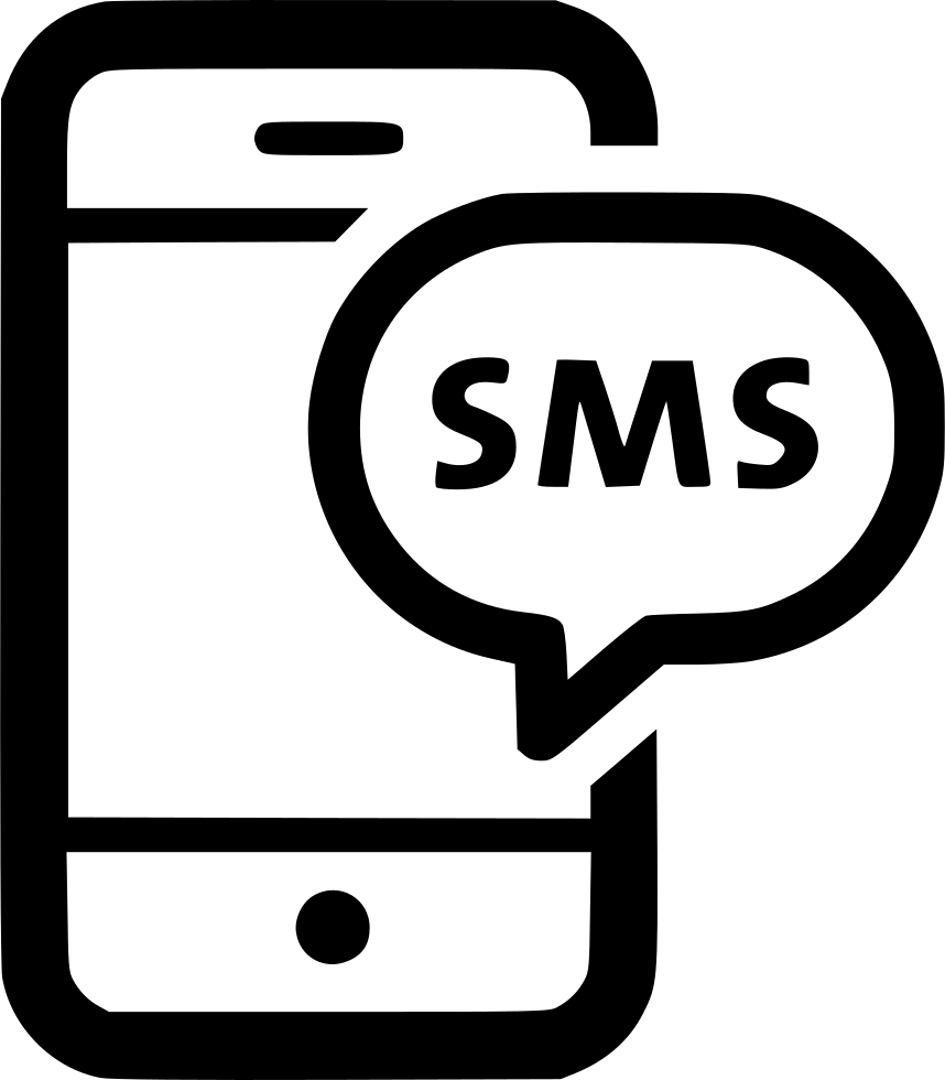 png black and white library Text svg clipart. Sms chat message phone