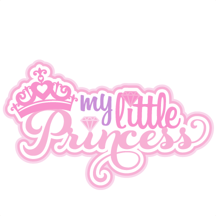 picture royalty free download Text clipart princess. My little svg scrapbook