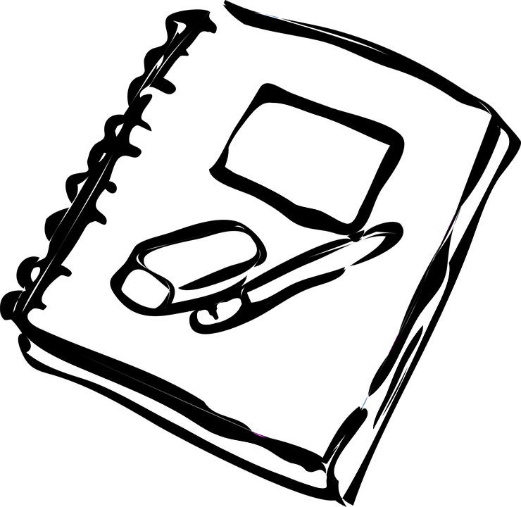 png royalty free library Eraser clipart black and white. Note book png transparent