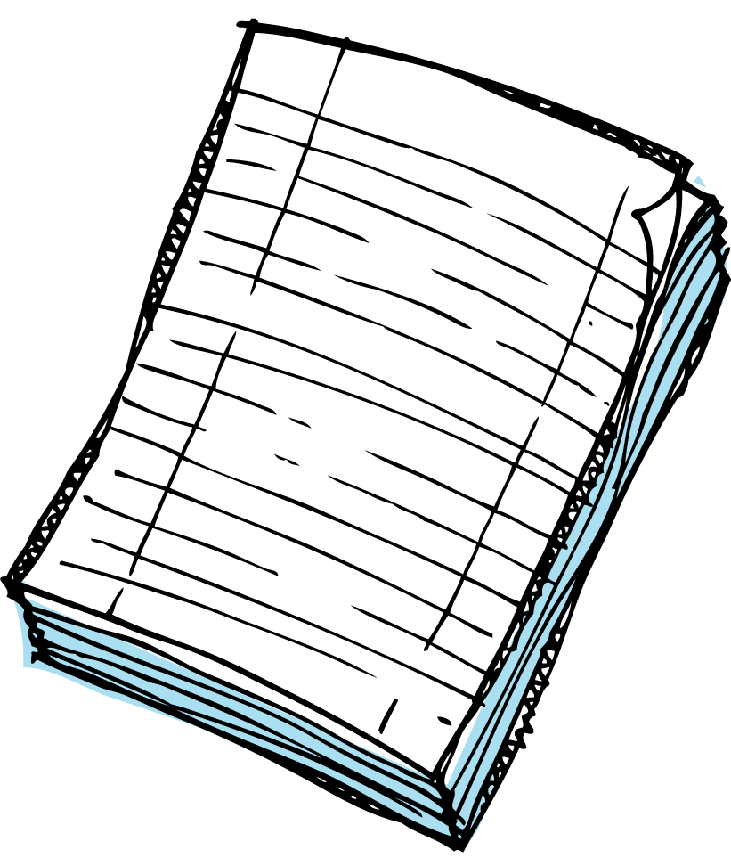 clip free library Newspaper clipart transparent. Notebook black and white.