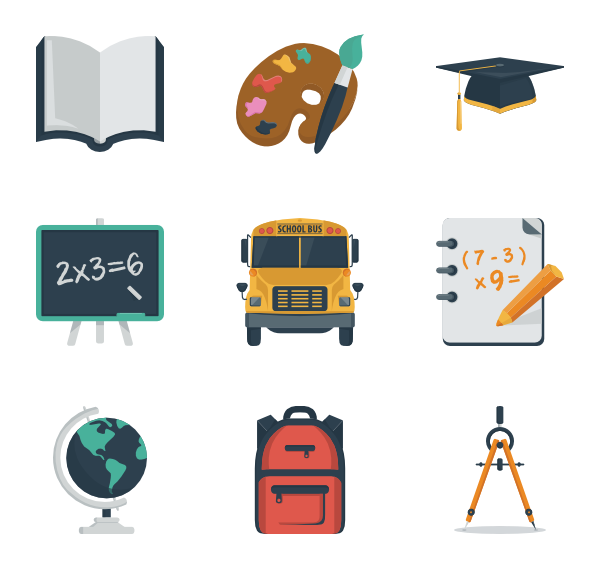 vector library library Open book Icons