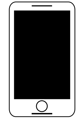 clipart freeuse Cell Phone Silhouette at GetDrawings