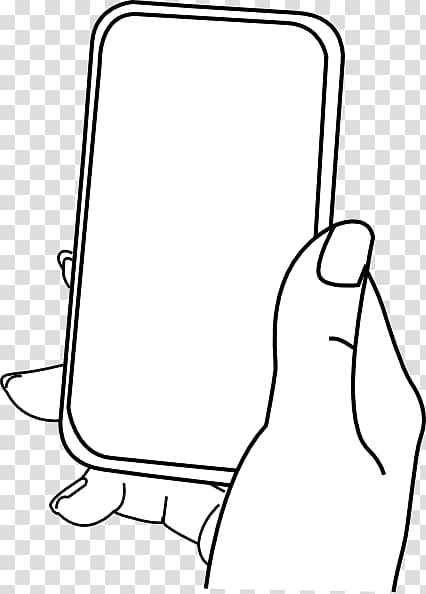 banner free library Texting clipart black and white. Person holding phone case