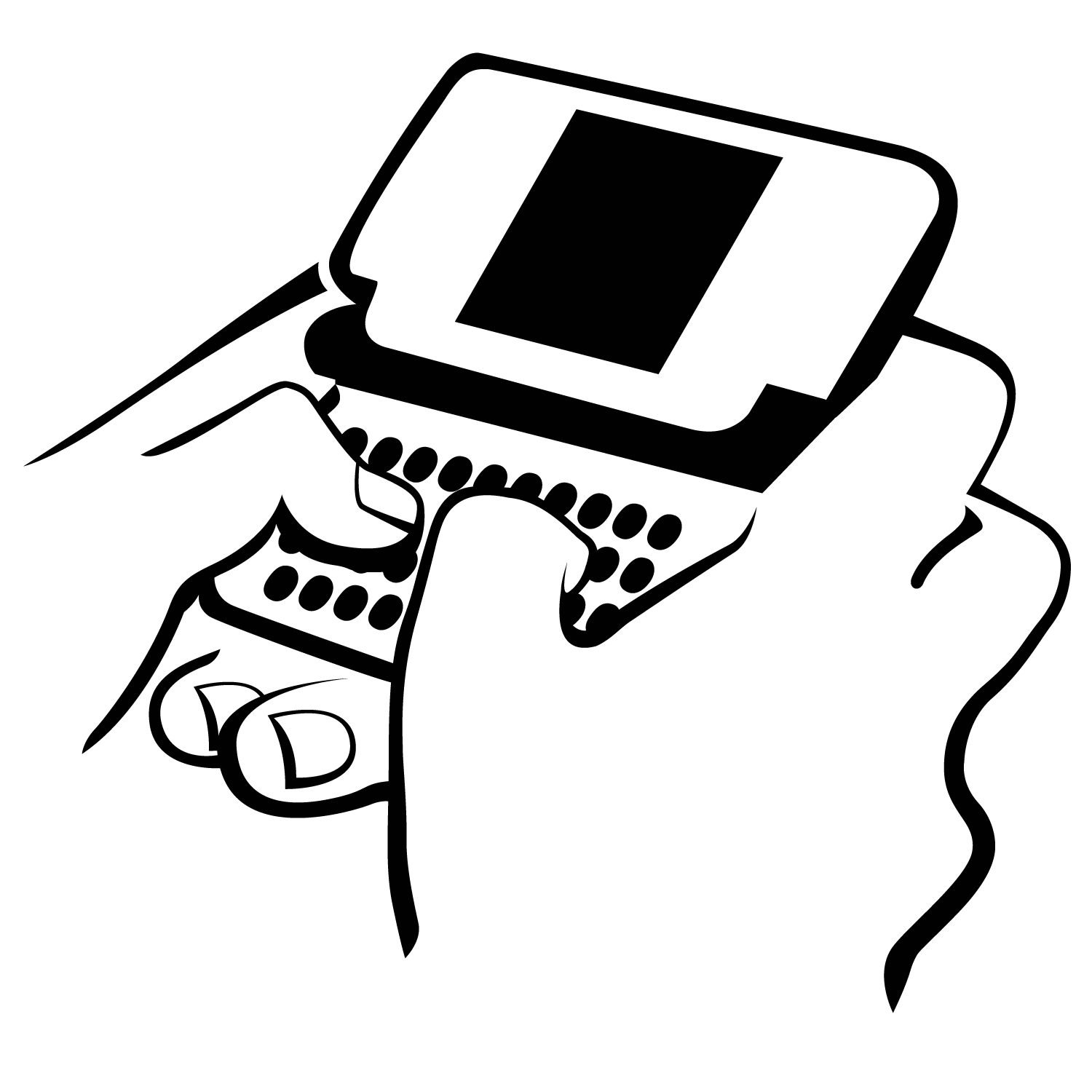 clip freeuse download Portal . Texting clipart black and white