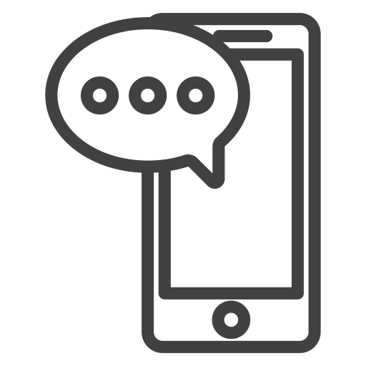 jpg library download Texting clipart black and white. Text talk cellphone communication