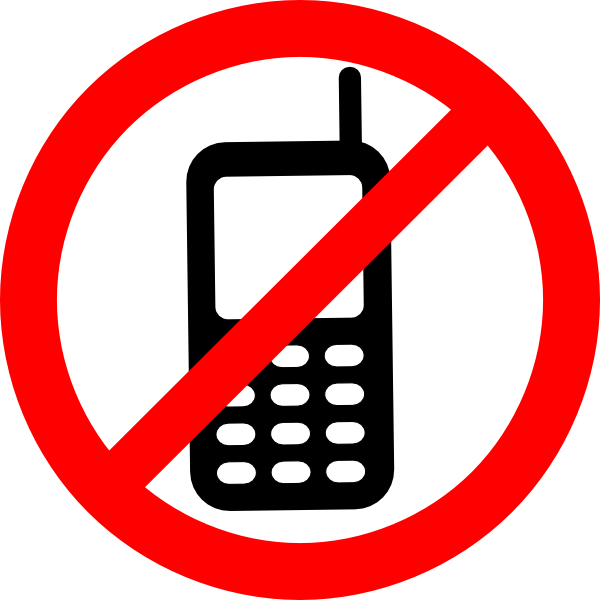 clipart library download No allowed sign clip. Texting clipart