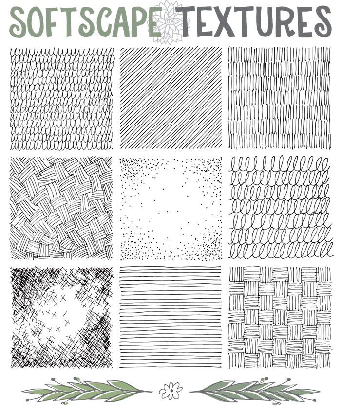clip Drawing rope texture. Collection of free textures
