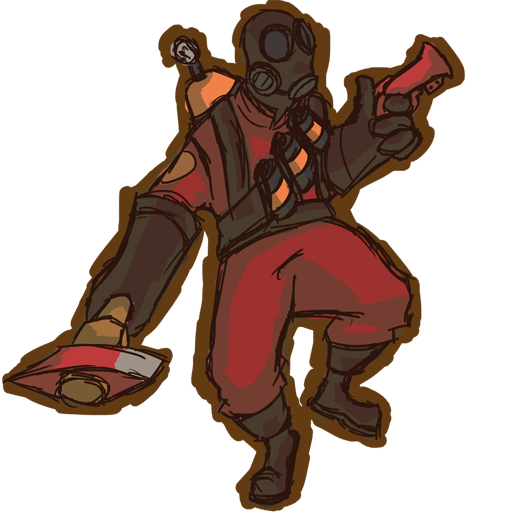 jpg black and white library tf2 drawing pyro #104699522