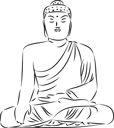 banner freeuse stock Buddha Outline Drawing at GetDrawings