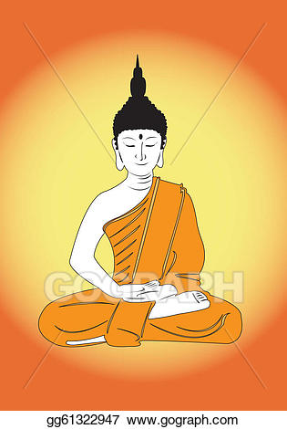 freeuse Vector stock illustration gg. Thai buddha clipart