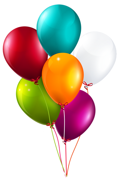 clipart Colorful balloons large png. Vector balloon bunch