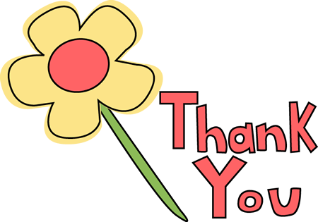 free download Thank you flower image. Volunteer clipart thanks
