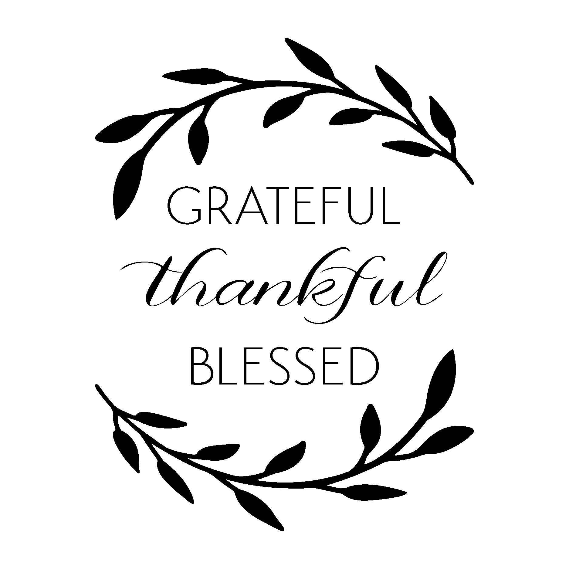 png download Grateful Thankful Blessed Wall Quotes