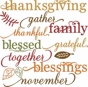 graphic royalty free library Thankful clipart november event. Thanksgiving break mini camp