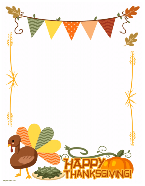transparent download Thanksgiving borders clipart. Free border printables many