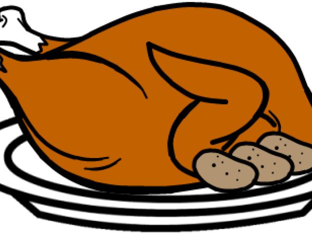 clip transparent stock Cooking a turkey clipart black and white stock