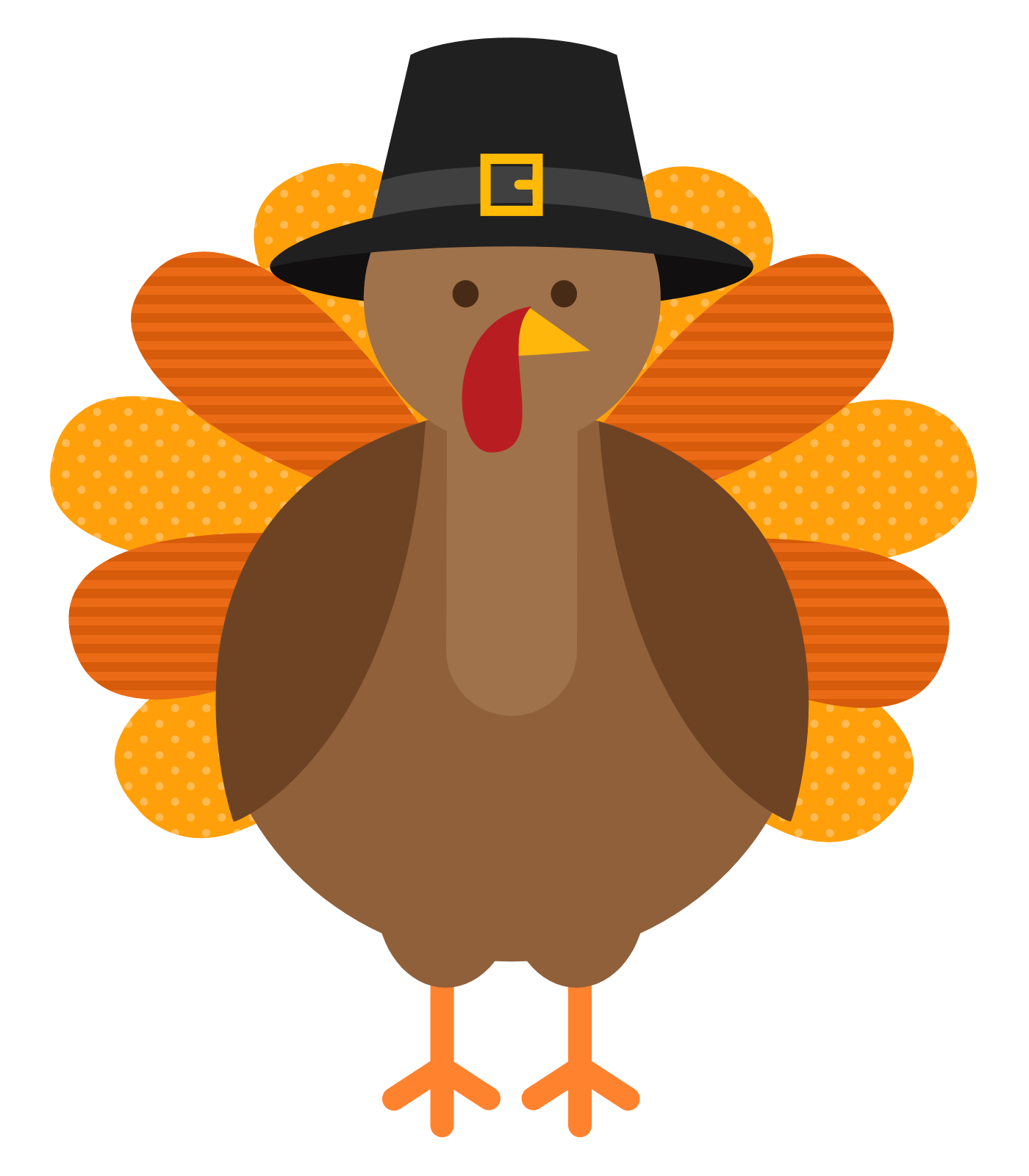 clip art royalty free stock Cute Thanksgiving Turkey Clipart