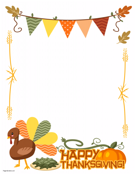 clip art library download Happy go team page. Thanksgiving clipart borders