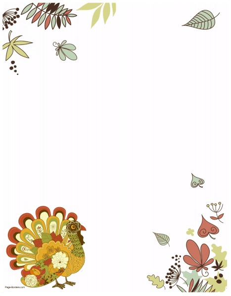 clipart transparent Thanksgiving clipart borders. Free border printables many