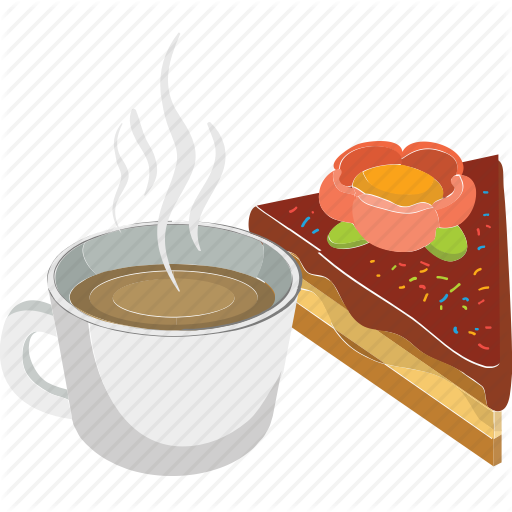 image free stock Vector coffee breakfast. Clipart tea cake free
