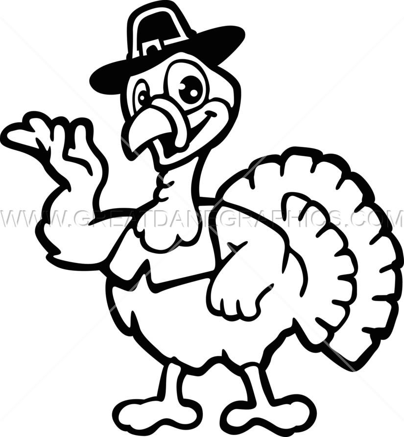graphic library library Production ready artwork for. Thanksgiving turkey clipart black and white