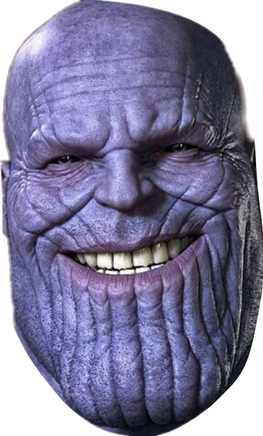 clip art library download thanos transparent head #104729175