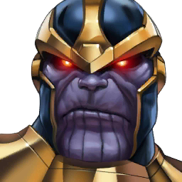 image black and white thanos transparent playable #104733137