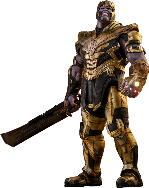 png transparent download Marvel Thanos Sixth Scale Figure by Hot Toys