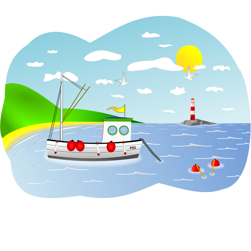 image royalty free library Boat graphics illustrations free. Yacht clipart beach
