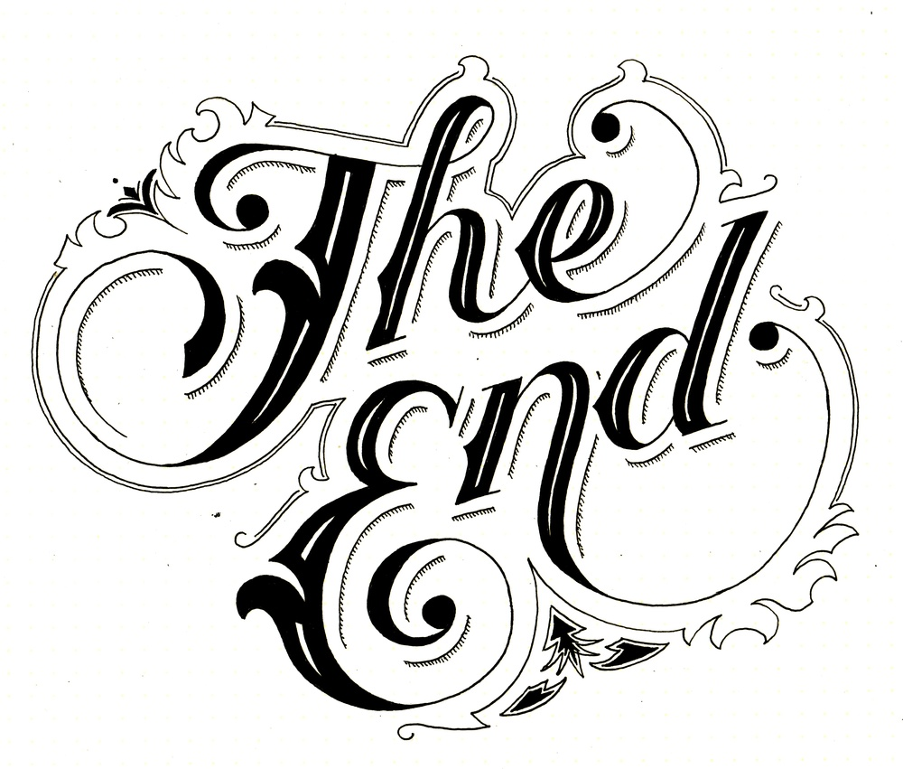 png black and white The end clipart. Free download clip art.