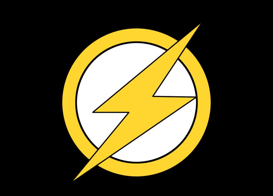 clip library stock Images of superhero logo. Vector emblem flash