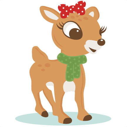 png royalty free Red reindeer svg scrapbook. The nosed clipart