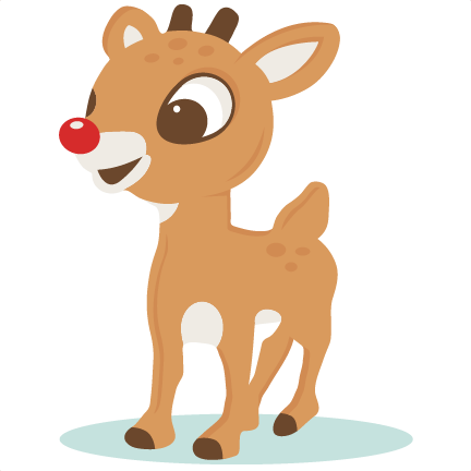 banner library download Red reindeer svg scrapbook. The nosed clipart