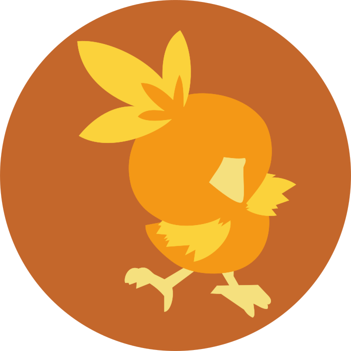 jpg royalty free Minimalist Torchic Icon