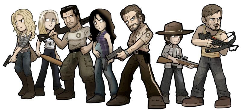picture royalty free download By sandikarakhim on deviantart. The walking dead clipart