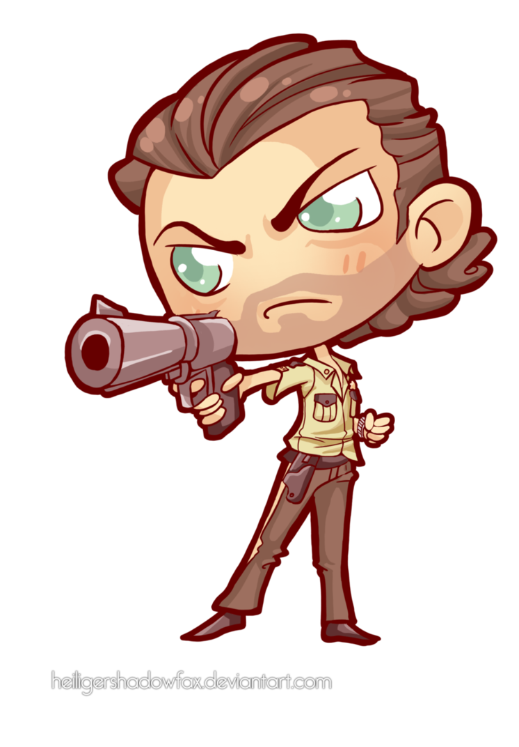 svg stock Commission chibi rick grimes. The walking dead clipart