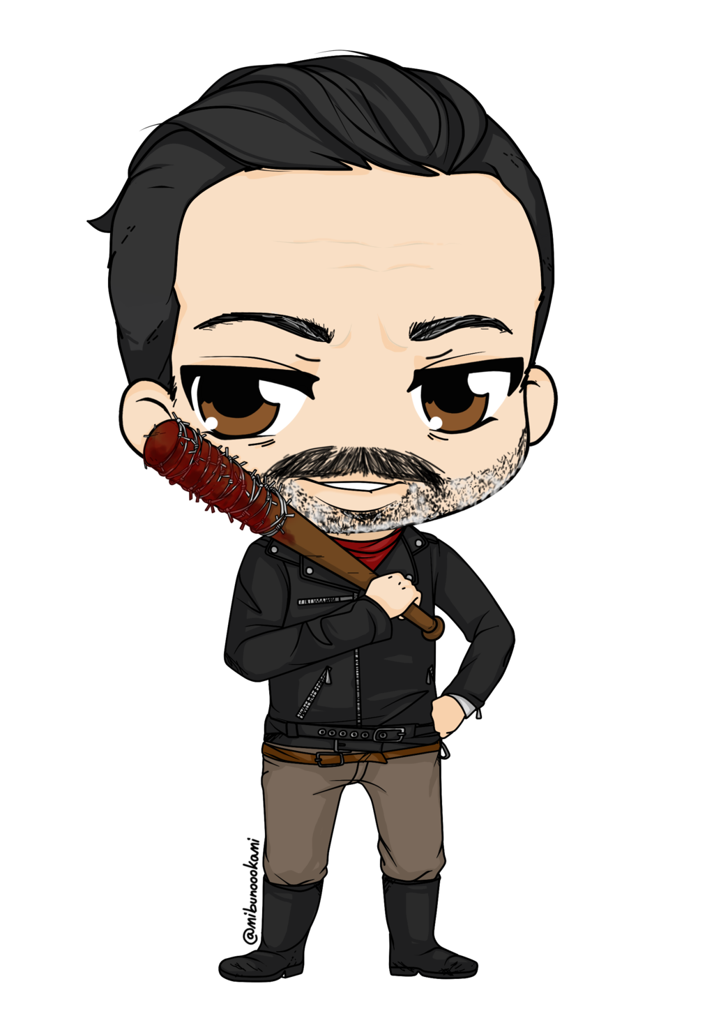 black and white download The walking dead clipart. Negan by mibu no