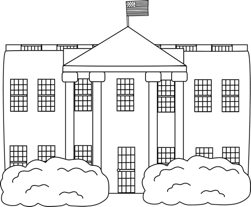 graphic transparent stock White House Bw Clipart