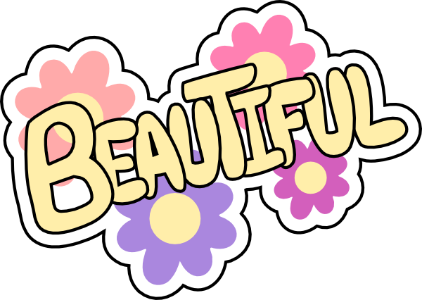 picture black and white download Pretty Word Clipart