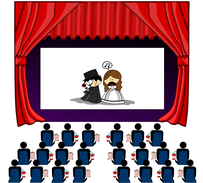 clip black and white stock Movie . Theater clipart