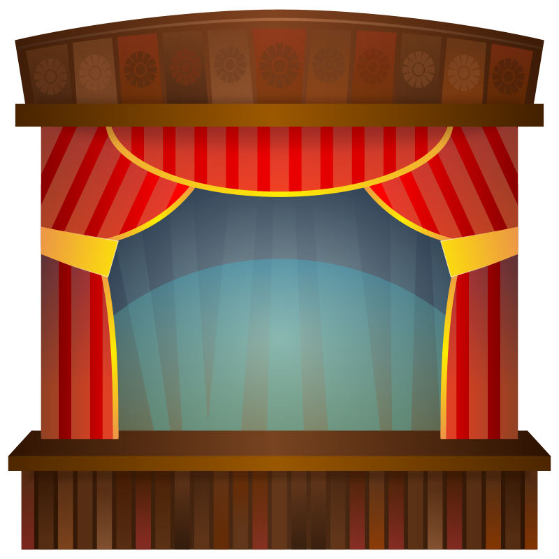 clip freeuse stock Stage hollywood rocks theme. Theater clipart