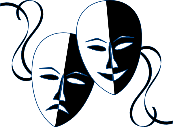 banner library stock Theatre Masks Clip Art at Clker