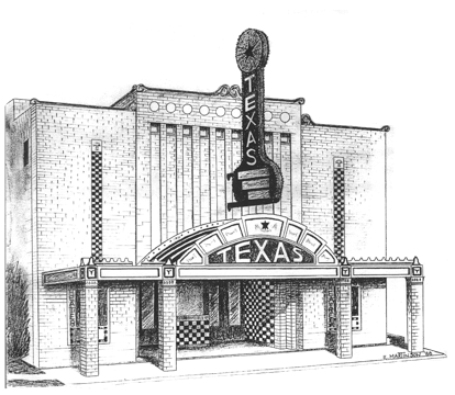 graphic black and white stock theatre drawing facade #104747936